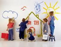 foto niños píntando